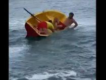 В Сочи горе-спасатели гонялись с веслом за пловцом