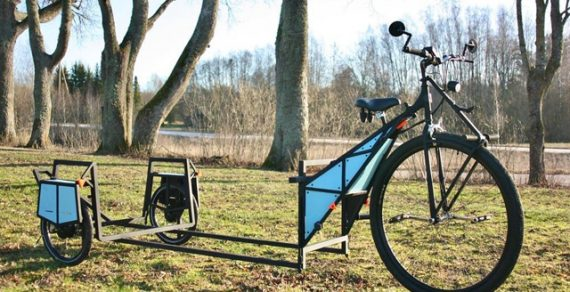 В Латвии создан плавучий дом на колесах