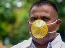 Житель Индии сделал себе из золота маску от коронавируса