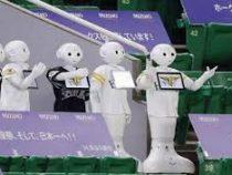 Роботы заменили болельщиков в Японии