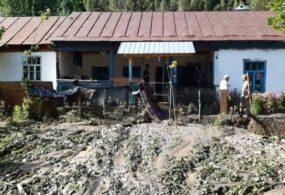 Вселе Арсланбоб селевые потоки затопили 10жилых домов