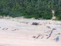 На необитаемом острове обнаружили моряков благодаря надписи на пляже