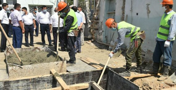 Строительство инфекционной больницы в Оше ведется по плану