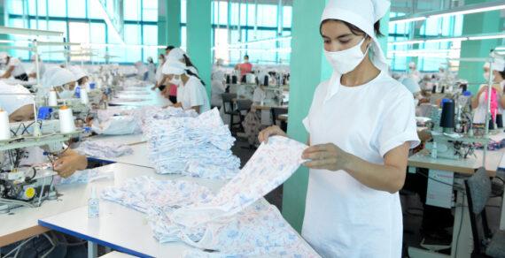 В Баткенской области начался выпуск средств индивидуальной защиты