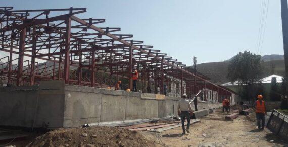 В Нарыне продолжается строительство новой инфекционной больницы