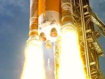 NASA испытало разгонный блок ракеты-носителя корабля Orion