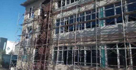 Строительство корпуса в школе №12 близится к завершению