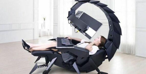 Жутковатое кресло-скорпион для геймеров создала китайская компания