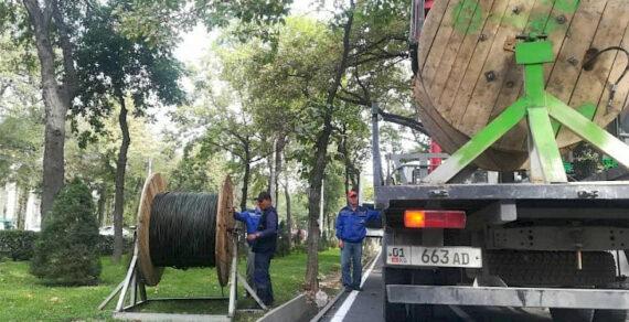 Модернизация наружного освещения в Бишкеке продолжается