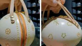 Страусиные яйца прекрасно подходят для того, чтобы делать из них сумочки