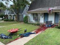 Техаский художник  реалистично украсил свой особняк к Хеллоуину