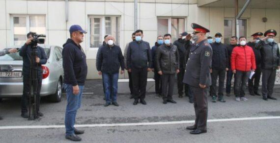 Курсан Асанов провел инструктаж для народных дружинников и милиционеров