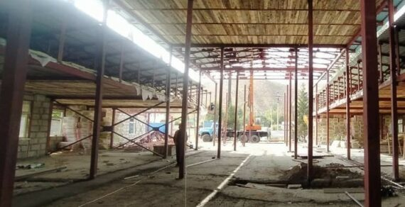 Строительство инфекционной больницы в Нарыне завершено на 50%