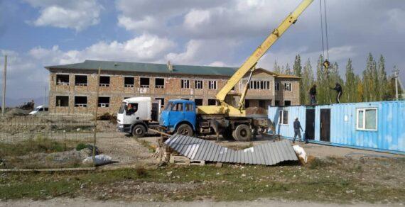 В селе Бугучу продолжается строительство новой школы