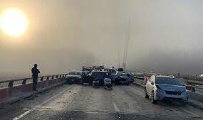 ДТП с участием 29 авто на шоссе в США, уничтожило 10 машин
