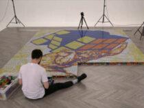 В Италии художник создал гигантскую мозаику из кубиков Рубика