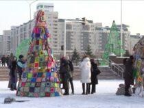 В центре Нур-Султана установят шестиметровую елку из пряжи