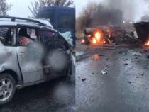 Вжуткой аварии возле Токмака погибли восемь человек