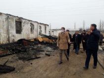 Сгоревшую в Баткенском районе школу отремонтируют