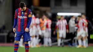 «Барселона» с Лионелем Месси проиграла клубу «Атлетик» в матче за Суперкубок Испании