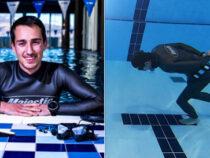 Дайвер прошёл под водой 96 метров и установил рекорд
