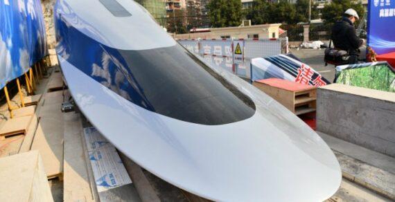 Китай представил прототип поезда, разгоняющегося до 620 км/ч