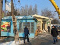 В Бишкеке продолжается снос незаконных объектов