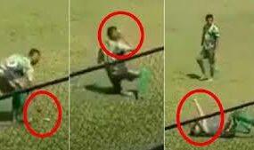 Симуляция года: футболист сильно переиграл, изображая страшную травму