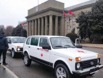 ВБишкеке прошла церемония передачи 15санитарных автомашин