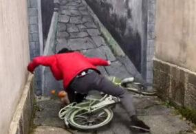 Велосипедист убедился, что глазам не всегда можно верить