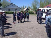 В Чуйской области продолжают работать передвижные пункты милиции