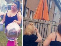 Именинница упустила воздушный шар с деньгами и стала звездой Сети