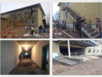 К школе села Кызыл-Ата строится дополнительный корпус