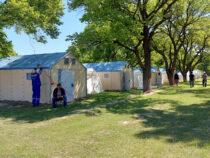 В Баткенской области построены 75 мобильных домов и палаток