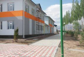 Строительство школы в селе Бугучу Нарынской области завершается