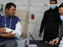 Пострадавшим на границе делают паспорта в больнице