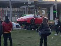 Сердечный приступ страховой компании: в Москве столкнулись Lamborghini, Porsche и Infiniti