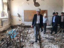 Здание школы в селе Максат будет восстановлено к новому учебному году