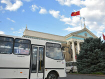 Междугородний маршрут взимает плату за проезд в размере 10 сомов