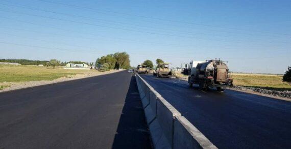 Строительство дороги Бишкек— Кара-Балта выполнено на72процента