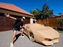 Блогер сделал Lamborghini Avendator из картона и продал его за $10 000