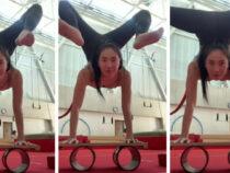 Гимнастка удивила пользователей соцсетей сложным трюком