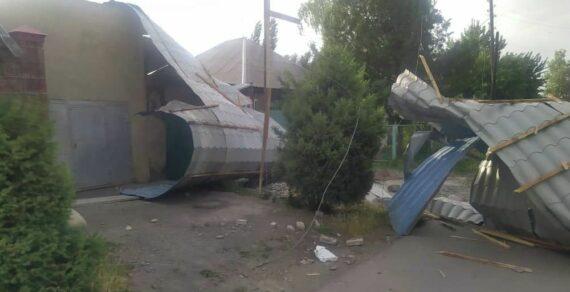 Мэрия Бишкека озвучила последствия сильного ветра