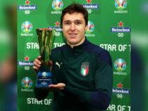 Федерико Кьеза признан лучшим игроком полуфинала Евро-2020 против Испании