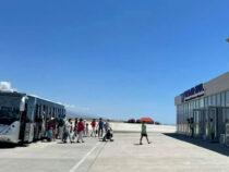Аэропорт в Тамчы встретил первый за 8 лет рейс из Джалал-Абада