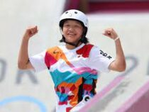 13-летняя японка Нисия завоевала золото в скейтбординге на Олимпиаде