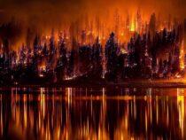 Природный пожар «Дикси» в Калифорнии, продолжает набирать силу