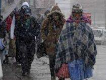 Сильнейший снегопад накрыл Боливию