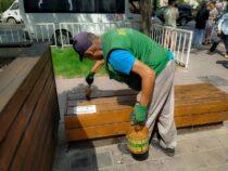 В Бишкеке освежили зону отдыха на перекрестке Чуй-Манаса