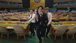 Популярная корейская группа BTS сняла клип в штаб-квартире ООН